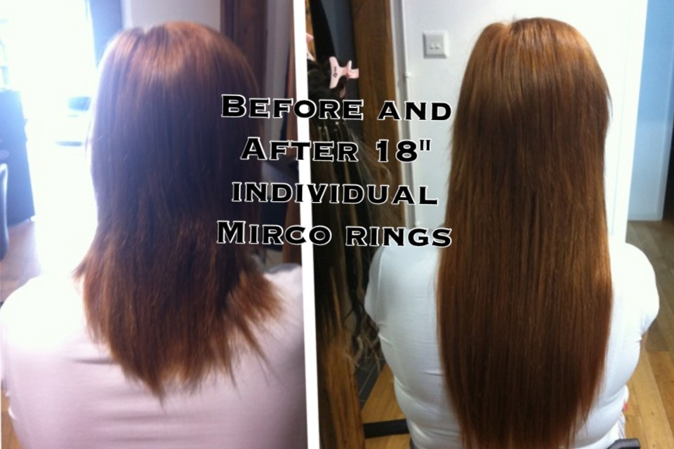 how to put in micro loop hair extensions