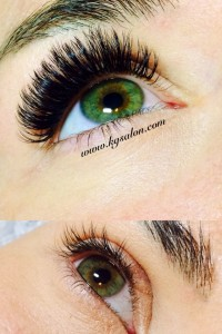 Before and after volume lashes